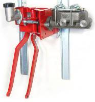 "Brakes and Brake Kits - 90° Under Dash Brake Pedal Assembly With 1"" Bore Cast Iron M/C and Clutch Reservoir"
