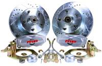"Master Power Brakes - 1958-64 Chevy - 1958-1964 Chevy Front 11"" D/S Disc Brake Kit with Power Booster"