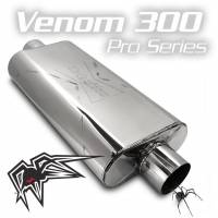 "Black Widow Exhaust - Pro Series-Venom 300 - 3"" offset/center"