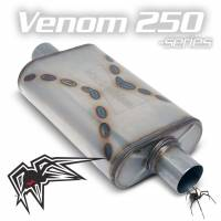 "Black Widow Exhaust - Venom 250-series muffler - 2.5"" offset/center"