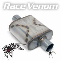 "Black Widow Exhaust - Race Venom - 2.5"" offset/center"