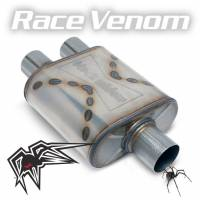 "Black Widow Exhaust - Race Venom muffler - Single 3""/Dual 3"""