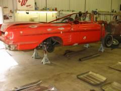 1958 Chevy Impala Convertible Partial Build Cover