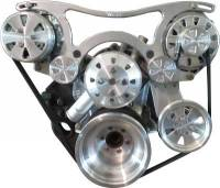 VIPS Engine Pulley Systems - Small Block Dodge - Engine Components - SB Mopar Serpentine TurboTrac Drive with P/S